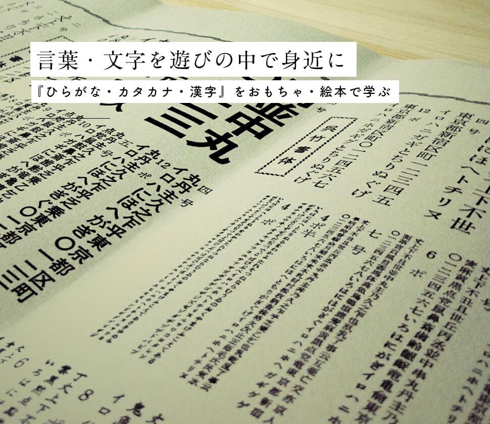 覚えない!練習しない!遊びながら『ひらがな・カタカナ・漢字』日本語を学ぶおもちゃ・絵本・図鑑