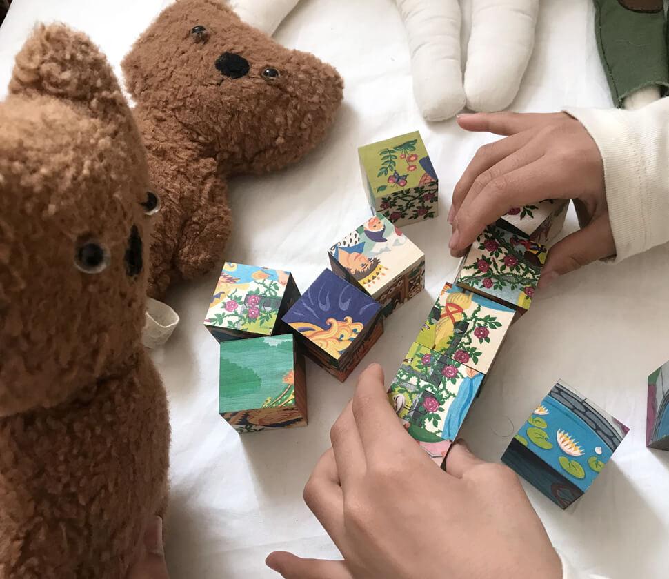 六面体パズル・グリム童話12PCS