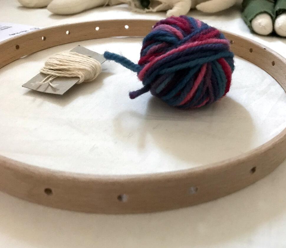 ハンドメイド・手芸の入り口、円形の織り物・編み物に