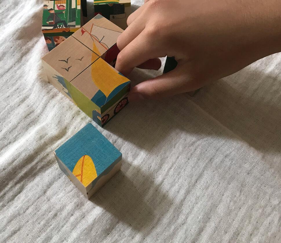 六面体パズル・のりもの9PCS