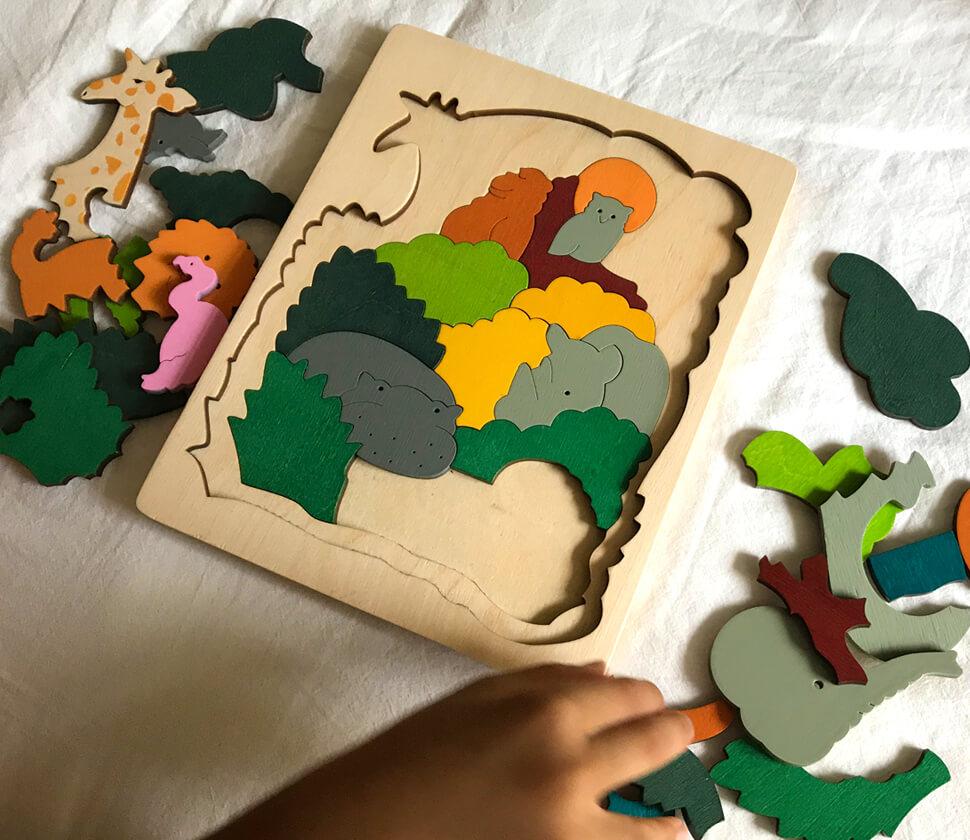 AFRICAN ANIMALS(2重パズル・アフリカ)