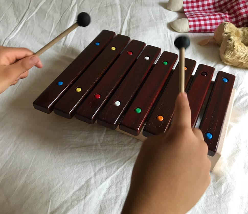 大きくなったら楽譜に合わせて演奏しよう