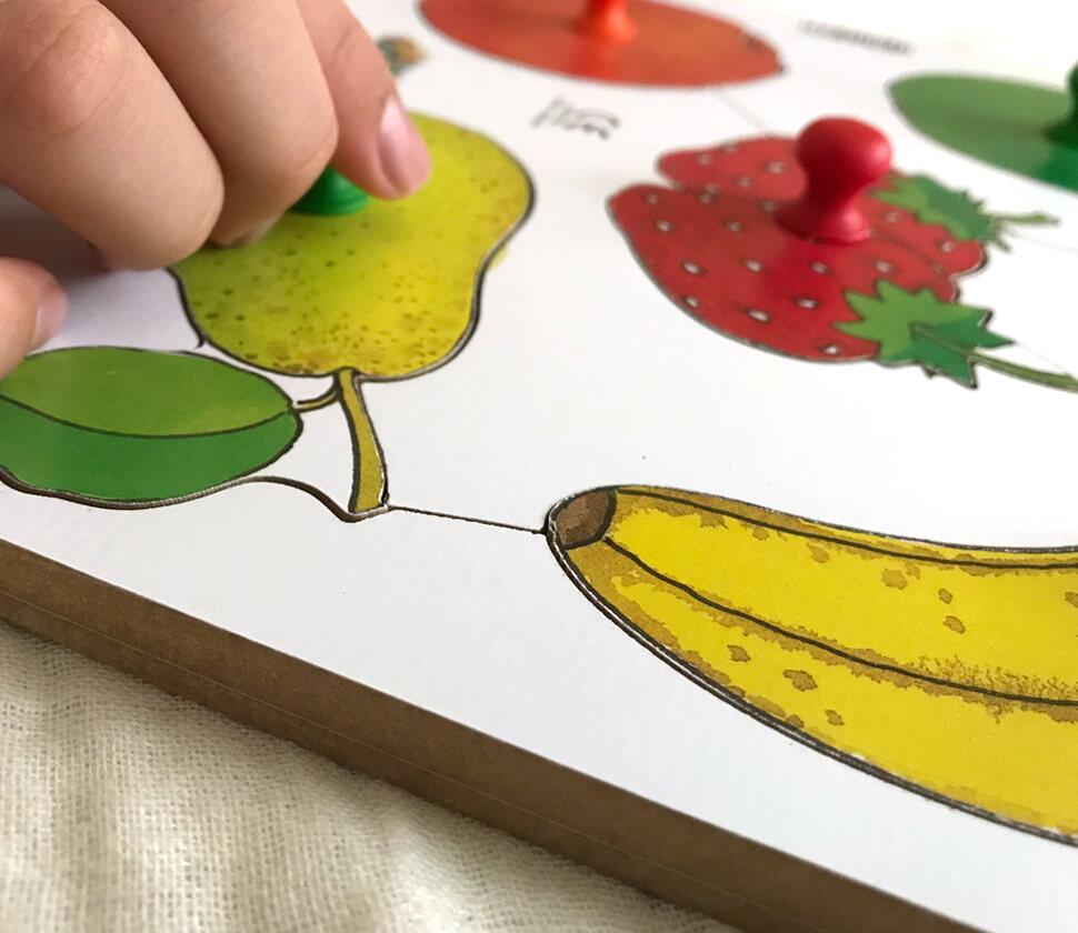 ノブつきパズル・果物