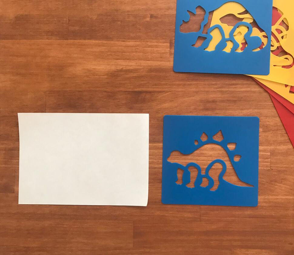 動物・恐竜・のりもののカラフルなステンシルセット